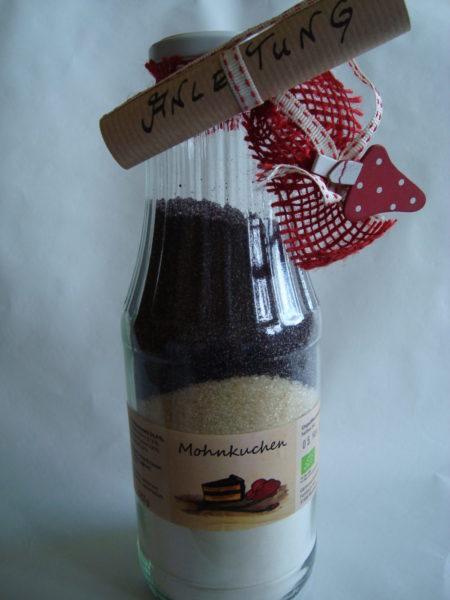 Mohnkuchen Backmischung Flasche Bioladen Gemüsegarten Eichsfeld